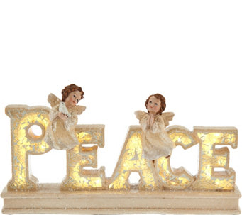 """As Is"" Inspirational Illuminated Word w/ Angels by Valerie - H210960"