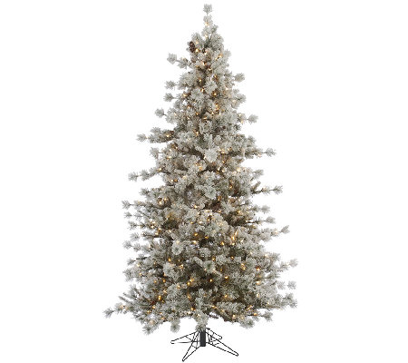 6.5' Flocked Anchorage Mulit Tipped Pine Tree by Valerie
