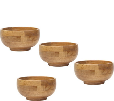 Lipper Oak Small Footed Rice Bowl 4-pc.