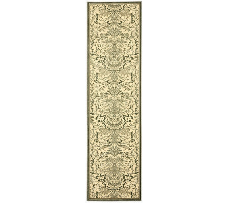 "Treasures Damask Power-Loomed Rug - 2'2"" x 8'"