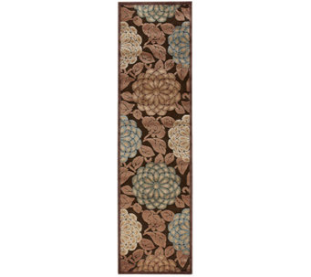 "Nourison Reflections 2'3"" x 8' William Morris Machine Made Rug - H366860"
