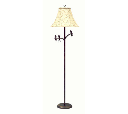 Bronze Bird Floor Lamp