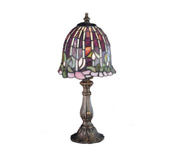 "Tiffany Style 16"" Flowering Lotus Accent Lamp - H122461"