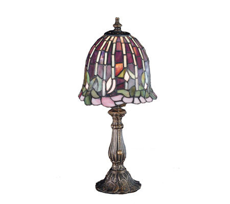 "Tiffany Style 16"" Flowering Lotus Accent Lamp"