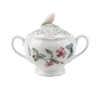 Lenox Butterfly Meadow Sugar Bowl with Lid - H138561