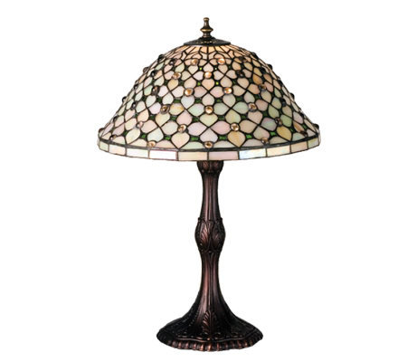 Tiffany-Style Diamond & Jewel Table Lamp