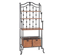 Lane Black Baker's Rack with Storage Baskets - H160961