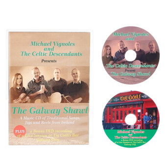"The Celtic Descendants ""The Galway Shawl"" CD and DVD Set - H208061"