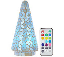 "8"" Mosaic Pearl Tree w/ Multi-Function Light & Remote by Valerie - H208961"