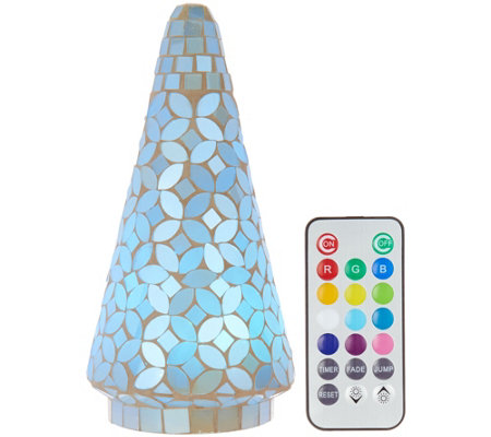 "8"" Mosaic Pearl Tree w/ Multi-Function Light & Remote by Valerie"