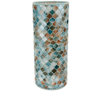 """As Is"" 12"" Moroccan Inspired Mosaic Cylinder by Valerie - H209361"