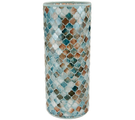 """As Is"" 12"" Moroccan Inspired Mosaic Cylinder by Valerie"