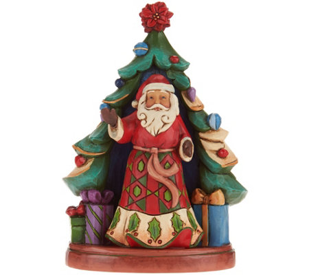 Jim Shore Heartwood Creek Santa with Tree Set Figurines