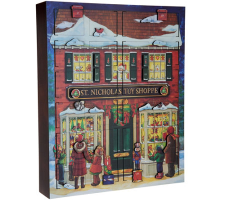 "Byers Choice 18.5"" Countdown to Christmas Toy Shoppe Advent Calendar"