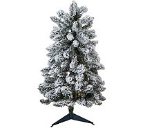 "Bethlehem Lights Prelit 34"" Flocked Tree Stake - H212561"