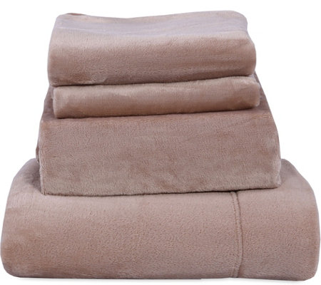 Berkshire Blanket Velvet Soft Cozy Twin Sheet Set