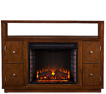 Kennedy Media Console/Stand Electric Fireplace,Brown - H282461