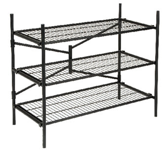 Cosco 3-Shelf Folding Instant Storage Unit - Black - H282661