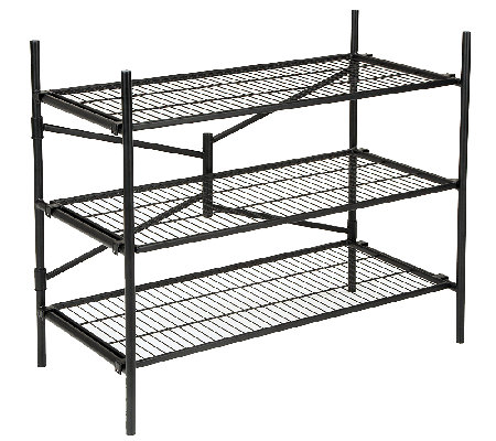 Cosco 3-Shelf Folding Instant Storage Unit - Black