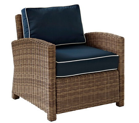 Crosley Bradenton Wicker Arm Chair w/ Cushions