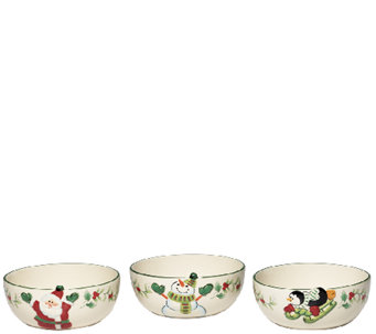 Pfaltzgraff Winterberry Figural Fruit Bowls -Set of 3 - H287161