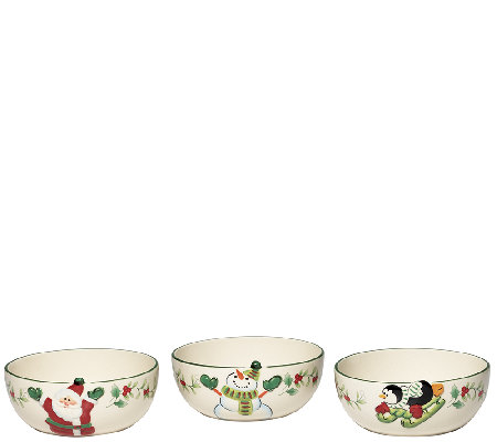 Pfaltzgraff Winterberry Figural Fruit Bowls -Set of 3
