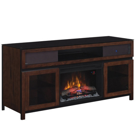 Gramercy Media Mantel Electric Fireplace Easy No-Tool Assembl