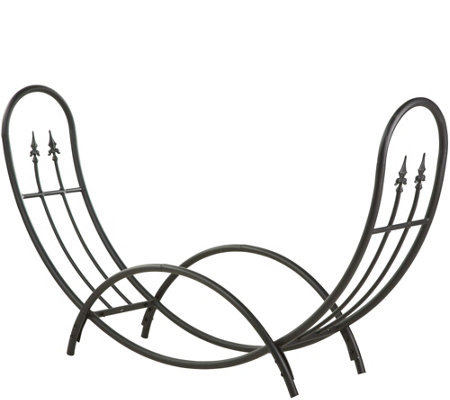 Plow & Hearth Curved Wood Rack