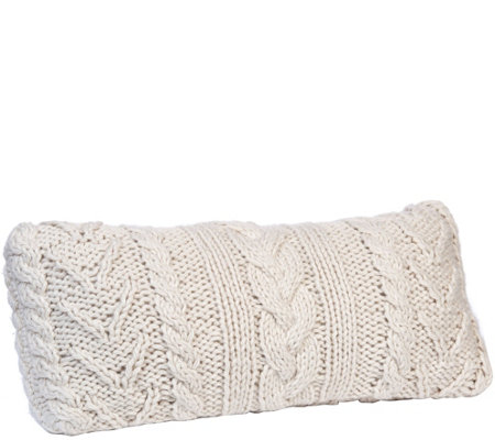 Berkshire Blanket Cable Knit Long Pillow