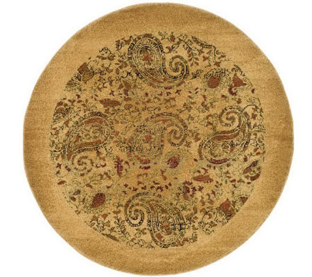 Lyndhurst 8' x 8' Paisley Life Power Loomed Round Rug