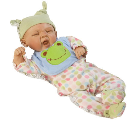 Paradise Galleries 20&quot GentleTouch Vinyl Doll -Sleepy Frog