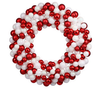 "36"" Candy Cane Ball Wreath by Vickerman - H354461"