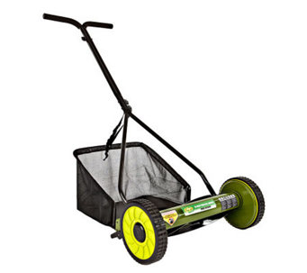 "Sun Joe Mow Joe 16"" Manual Reel Mower with Catcher - H357961"
