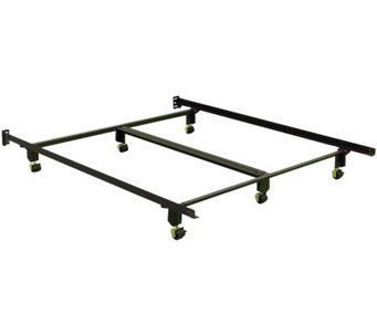 Instamatic QN Bed Frame w/ Rug Rollers, Locks &Center Support - H367661