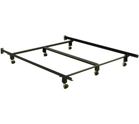Instamatic QN Bed Frame w/ Rug Rollers, Locks &Center Support
