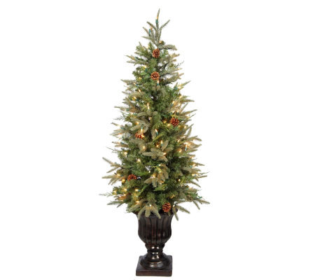 BethlehemLights Natural Series Indoor/Outdoor 5' Tree with Urn