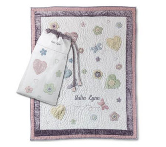 Things Remembered Personalized Butterfly & Flowers Quilt - H125862