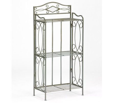 Pewter 3 Tier Bathroom Storage Rack