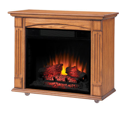 ChimneyFree Lancaster Roll-Away Elec. AntiquedOak Fireplace