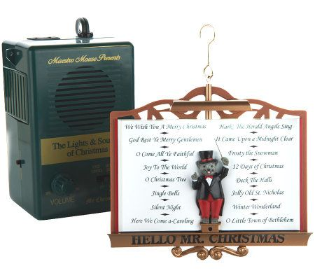 Mr. Christmas Interactive Lights & Sound Ornament with ...