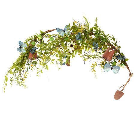 Gardeners Garland with Flower Pots & Tools