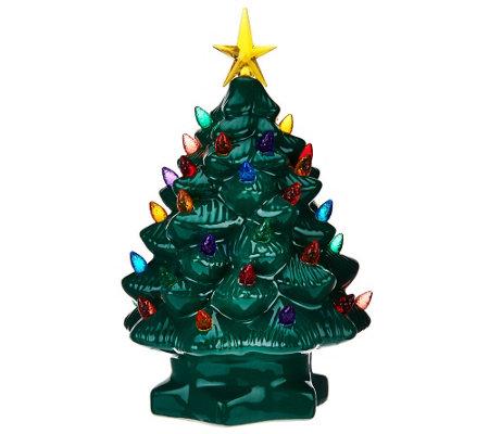 mr christmas lit battery op 10 nostalgic porcelain christmas tree - Mr Christmas Tree