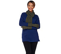 ED On Air Cashmere Blend Glove and Scarf Set by Ellen DeGeneres - H207162