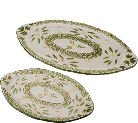 Temp-tations Old World Set of 2 Serving Platters