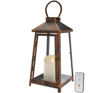"Luminara 14"" Hampton Indoor Outdoor Lantern with Flameless Candle & Remote - H207662"