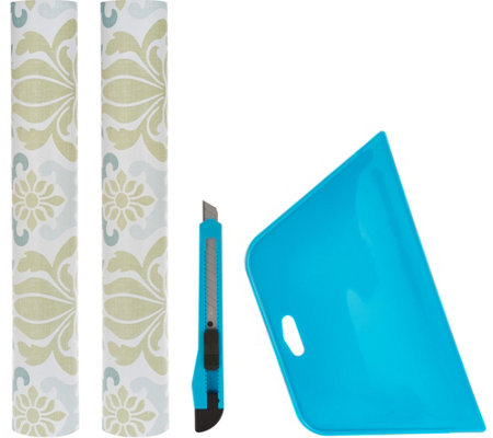 Wallpops S/2 Removable Wallpaper Rolls with Application Kit