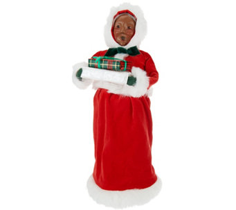 "Byers Choice Red Velvet 13"" Santa Claus or Mrs. Claus Figurine - H208762"
