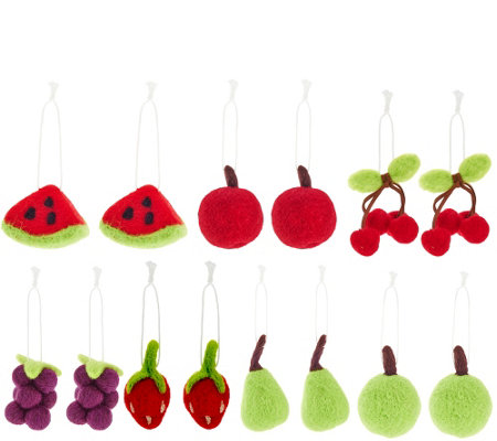 """As Is"" ED On Air Set of 14 Felt Ornaments by Ellen DeGeneres"