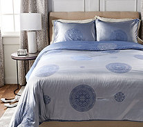 Casa Zeta-Jones Two Tone Medallion King Comforter w/ Shams - H213162