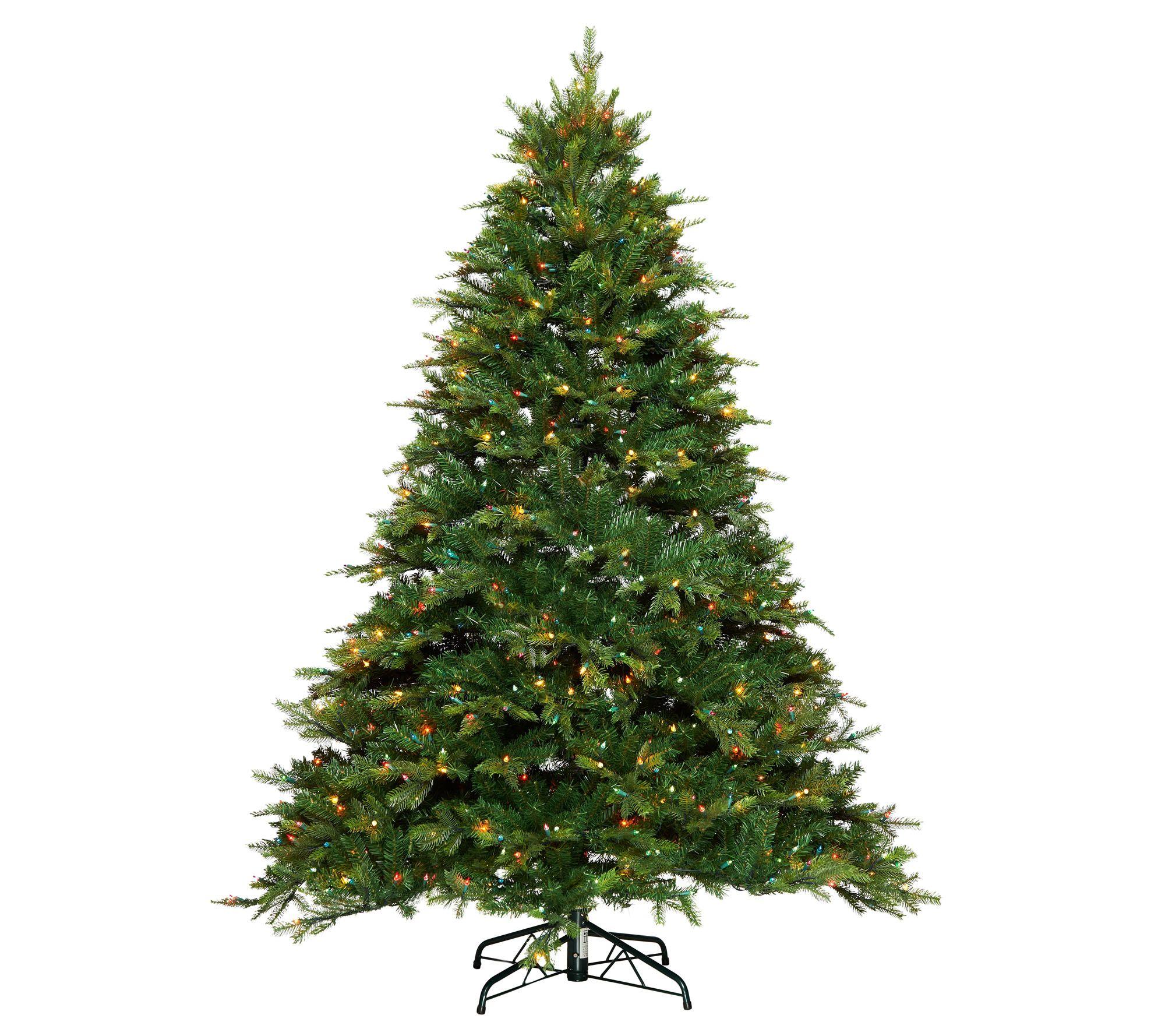 Bethlehem Lights Prelit 7.5' Shenandoah Pine Full Christmas Tree ...
